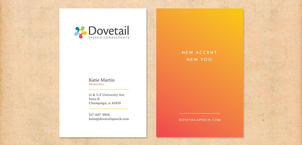 Dovetail Speech Consultants business cards